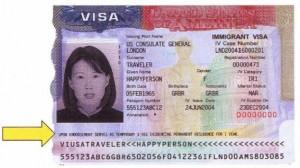 Sample USA Visa #2